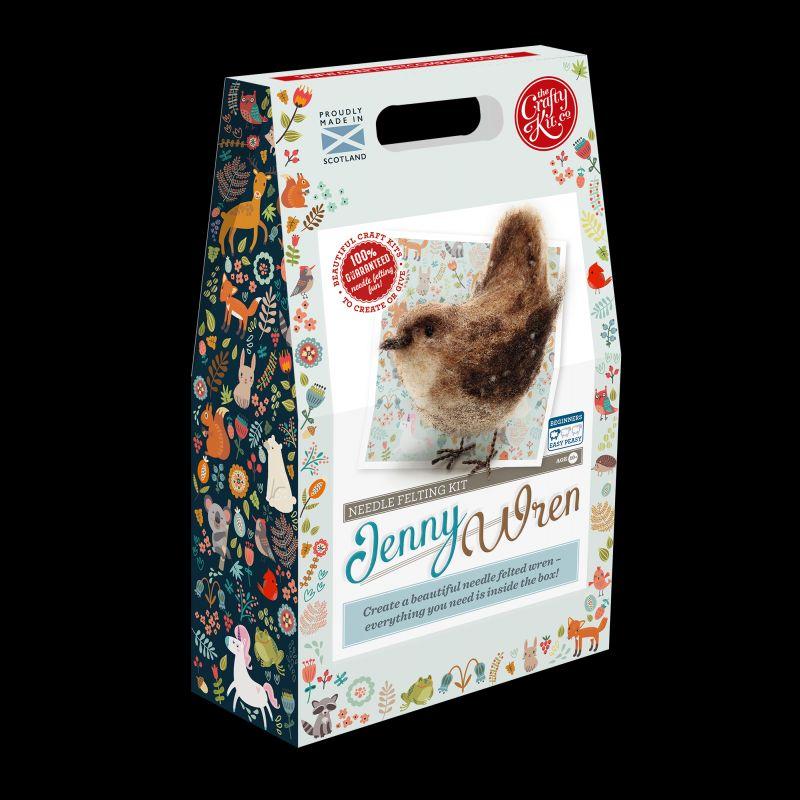 Crafty Kit Company  Jenny Wren Needle Felting Kit