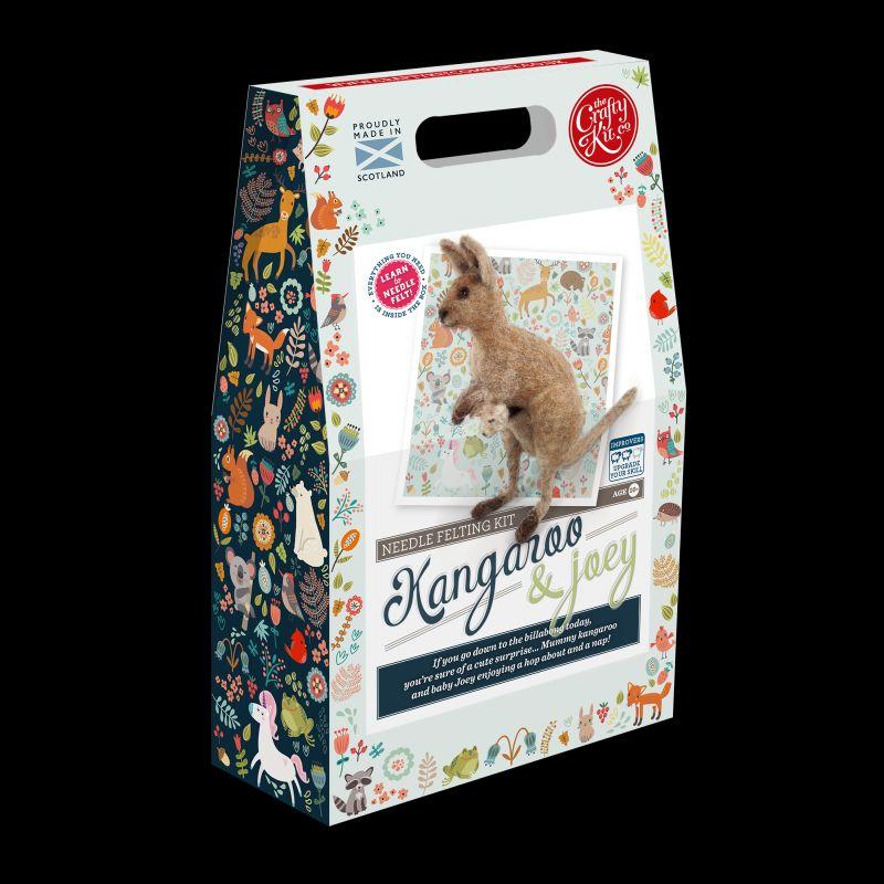 Crafty Kit Company  Kangaroo & Joey Needle Felting Kit