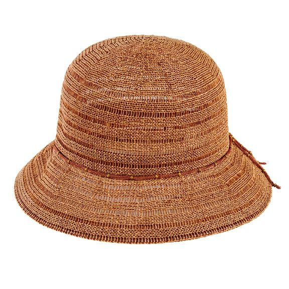 San Diego Hat Company: Women's cloche with chain mesh beaded trim