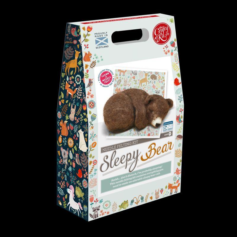 Crafty Kit Company  Sleepy Brown Bear Needle Felting Kit