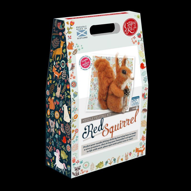 Crafty Kit Company  Highland Red Squirrel Needle Felting Kit