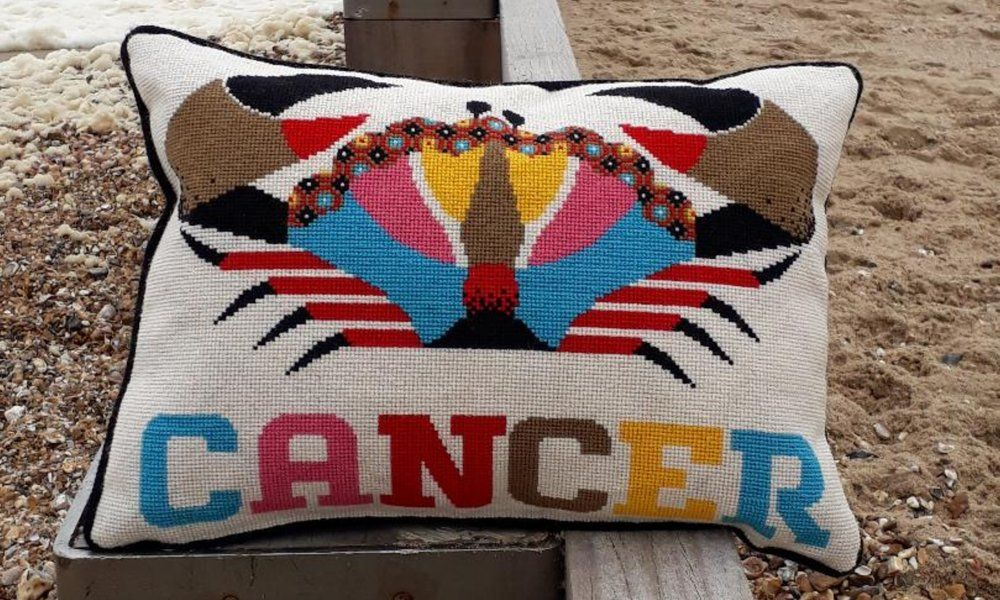 Emily Peacock: Cross Stitch Kits - Zodiac Signs - Cancer (small)