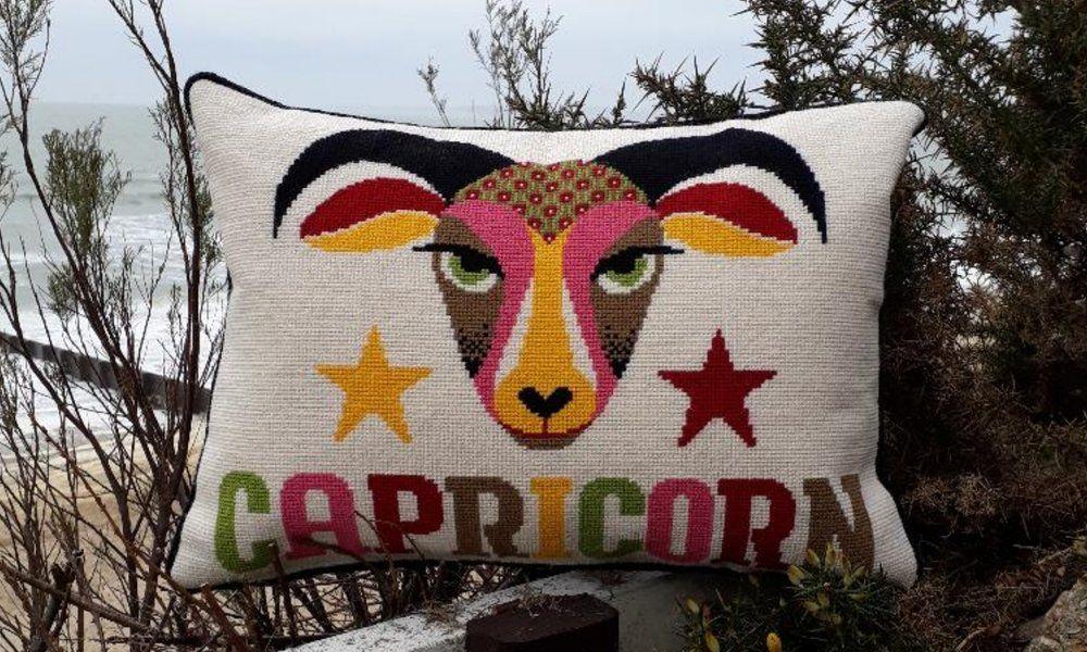 Emily Peacock: Cross Stitch Kits - Zodiac Signs - Capricorn (large)