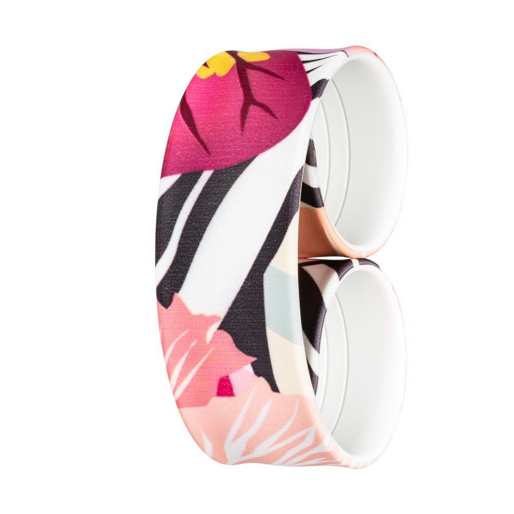 Bills Watches: Addict Collection - Addict Printed Slap Bands - Zebra Flower Camo, MOQ 3 units at £5.00 per unit