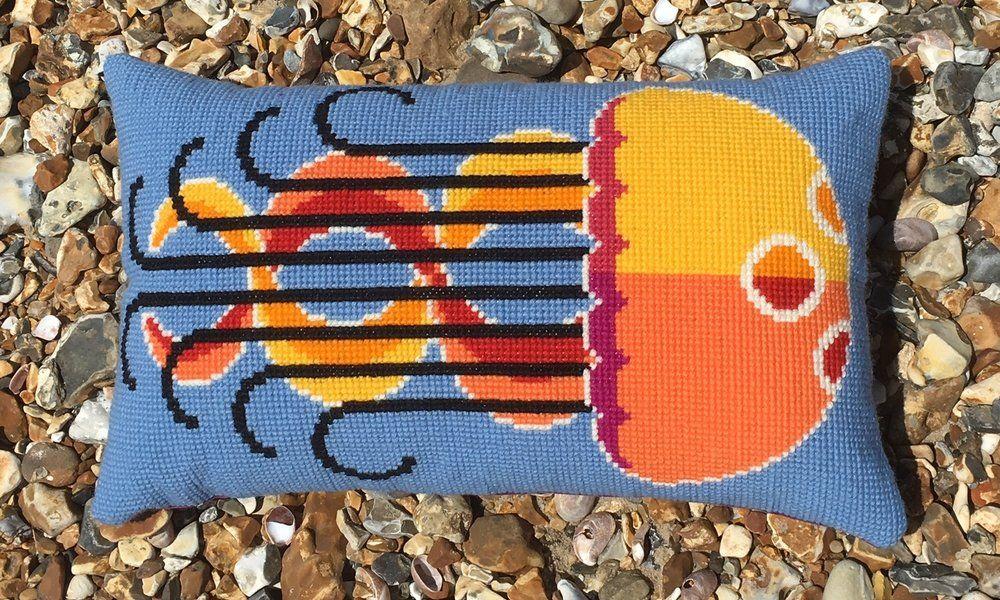 Emily Peacock Cross Stitch Kits - Jellyfish