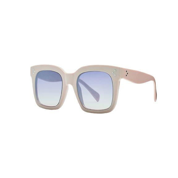 Women's square solid frame sunglass with grey tint lense 100% UVA/P protection