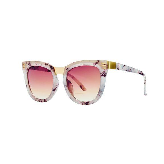Women's square tortoise metal sunglass 100% UVA/P protection