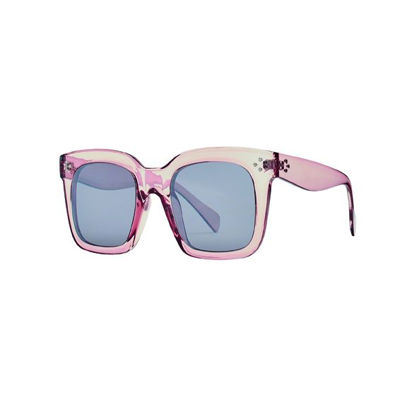 Women's square clear sunglasses 100% UVA/P protection