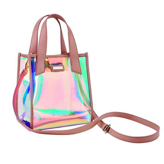 Women's clear tpu irredecent bag