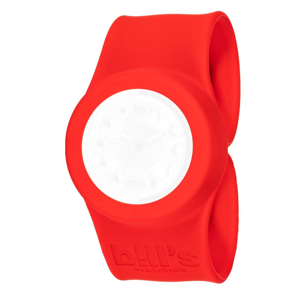 Bills Watches: Classic Collection - Unicolour Slap Bands - Rouge