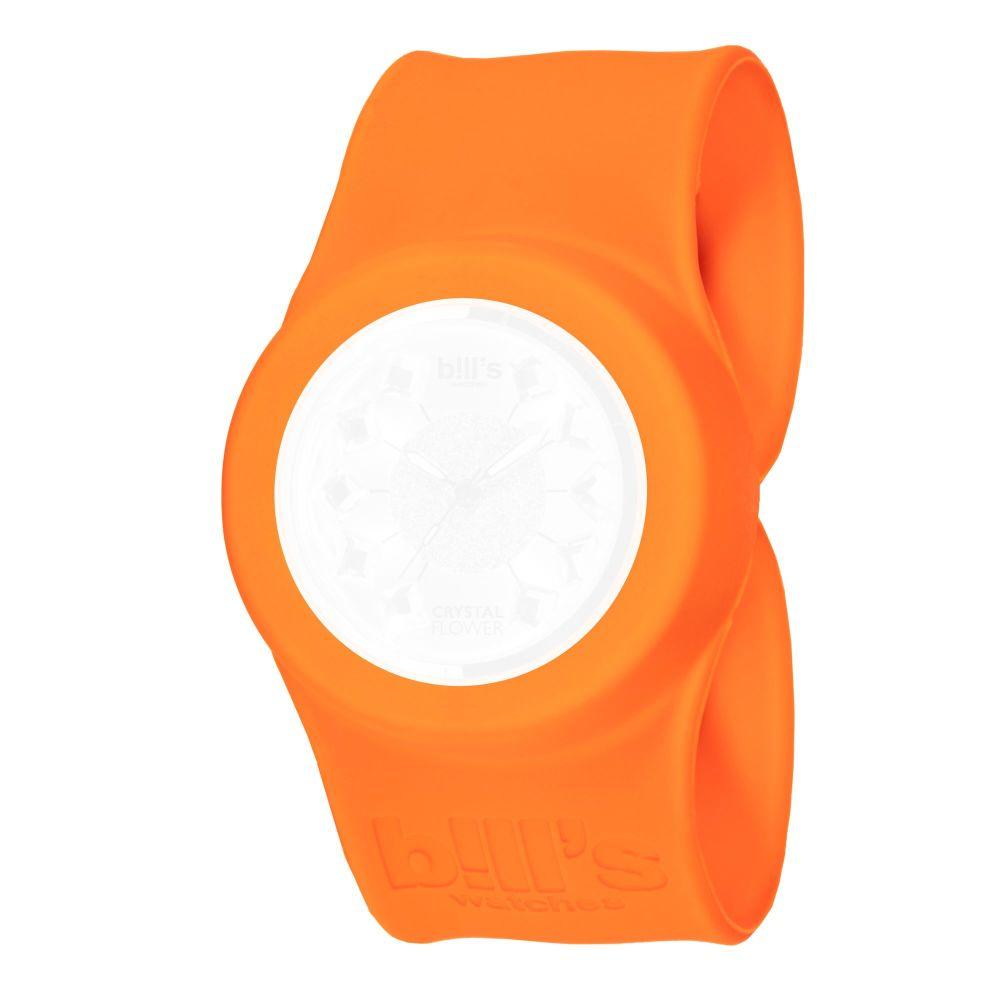 Bills Watches: Classic Collection - Unicolour Slap Bands - Orange