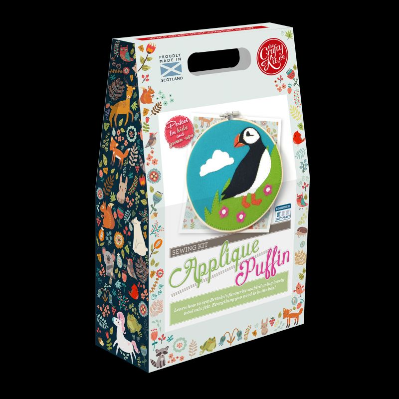 The Crafty Kit Company Scottish Puffin Felt Applique Kit