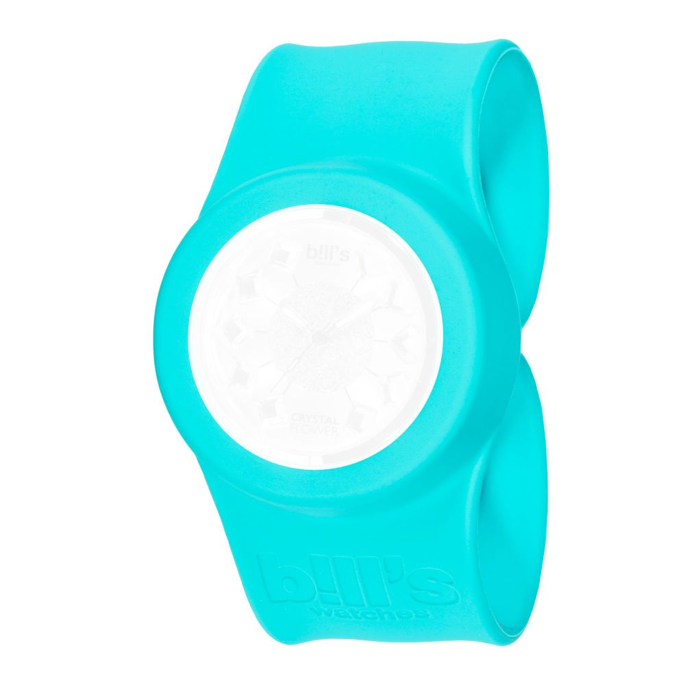 Bills Watches: Classic Collection - Unicolour Slap Bands - Turquoise