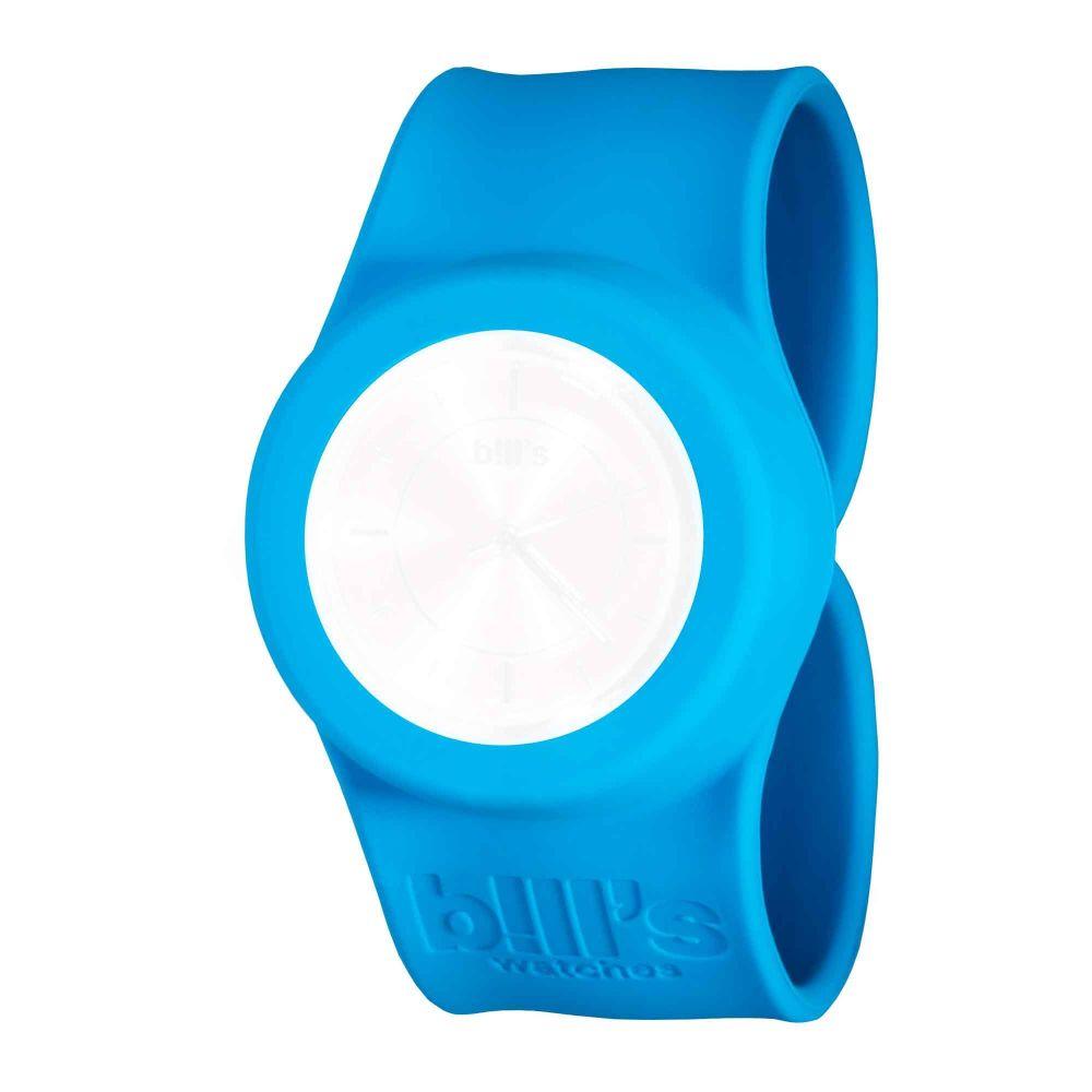 Bills Watches: Classic Collection - Unicolour Slap Bands - Bleu Lagon
