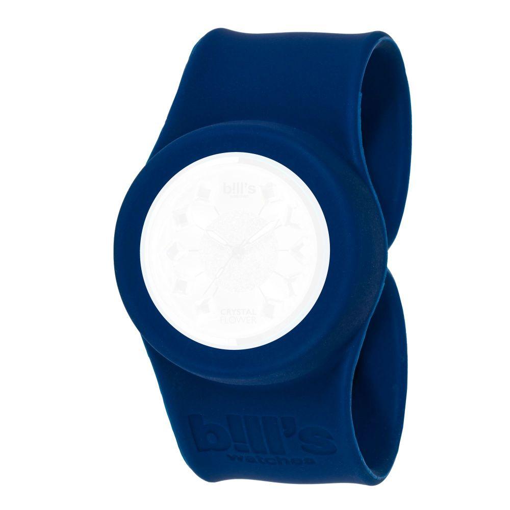 Bills Watches: Classic Collection - Unicolour Slap Bands - Marine Blue