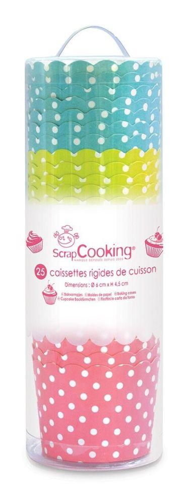 Scrap Cooking: 25 baking paper cases polka dot patterns . MOQ 10 Units @ £3.06 per unit 5097
