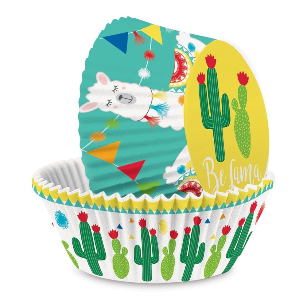 """Scrap Cooking:   +/- 36 cupcakes cases """"Llama"""". MOQ 6 Units @ £2.69 per unit 5067"""