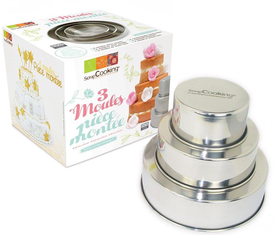 Scrap Cooking: 3 tiered cake moulds . MOQ 2 Units @ £27.17 per unit 1900