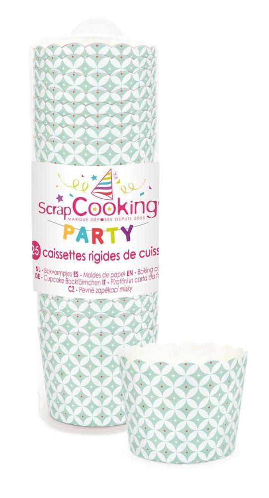 """Scrap Cooking: 25 Baking cups """"sea-green"""". MOQ 10 Units @ £2.66 per unit 0243"""