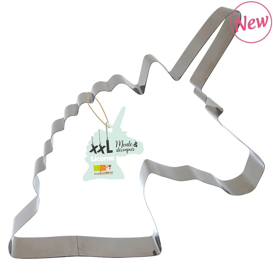 Scrap Cooking: Cake mould and stainless steel cutter « Unicorn ». MOQ 6 Units @ £8.71 per unit 1982