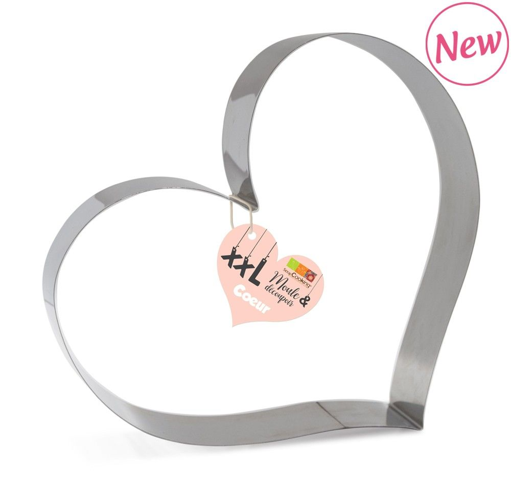 Scrap Cooking: Cake mould and stainless steel cutter « Heart ». MOQ 6 Units @ £8.02 per unit 1980