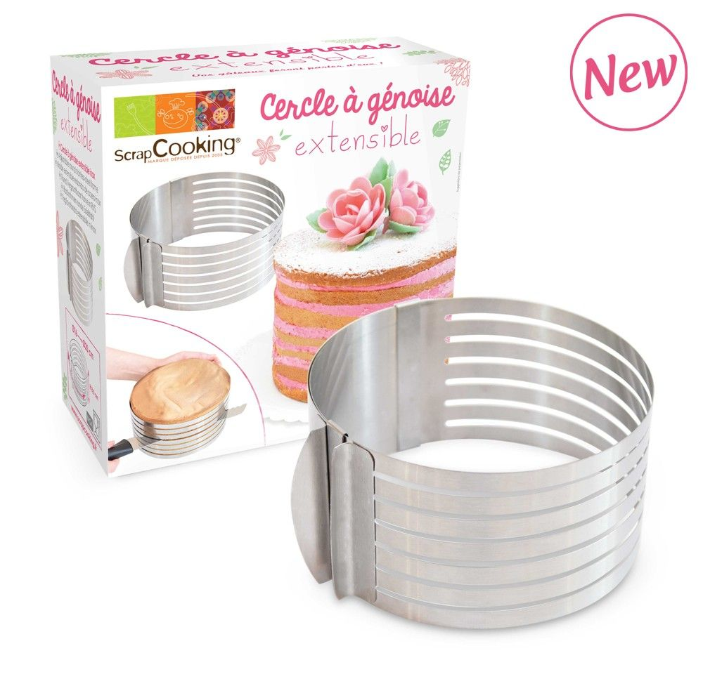 Scrap Cooking: Adjustable round stainless-steel frame. MOQ 5 Units @ £12.86 per unit 1913