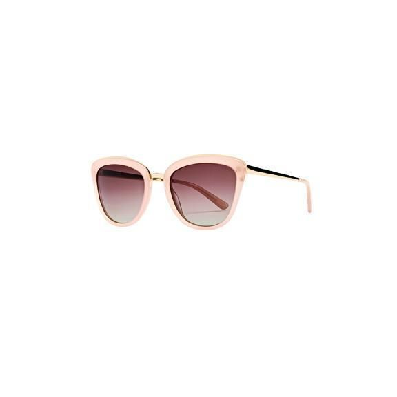 BSG1066- WOMENS ACETATE CATEYE WITH EXPOSED FRAME SUNGLASSES  -  BLUSH   -  WOMENS O/S