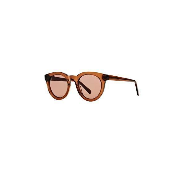 BSG1065 - WOMENS ACETATE ROUNDED SHAPE SUNGLASSES  -  BROWN   -  WOMENS O/S