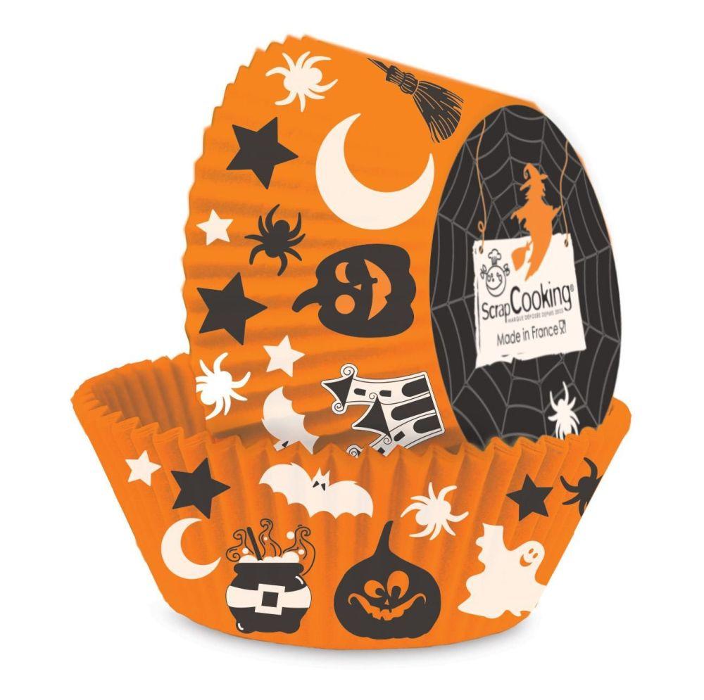 """Scrap Cooking: 36 """" Halloween"""" cupcake cases. MOQ 6 Units @ £2.7 per unit 5087"""