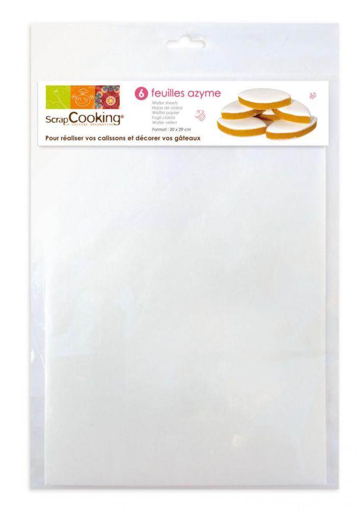 Scrap Cooking: 6 Wafer sheets TVA 5,5%. MOQ 5 Units @ £3.61 per unit 7300