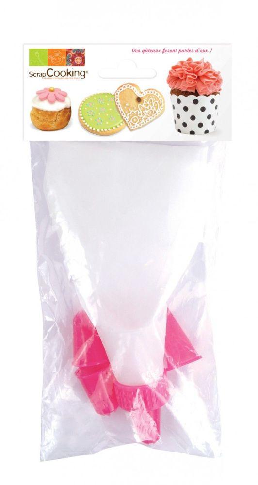 Scrap Cooking: 1 pastry bag + 4 piping nozzles. MOQ 5 Units @ £3.47 per unit 5004