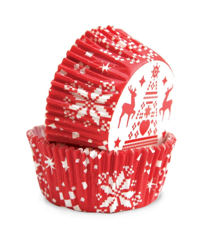 """Scrap Cooking: 36 """"christmas"""" cupcake cases. MOQ 6 Units @ £2.7 per unit 5088"""