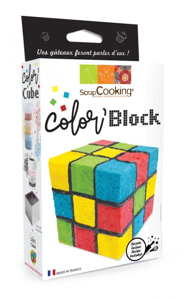 """Scrap Cooking: """"Color'block"""" set. MOQ 6 Units @ £7.51 per unit 3946"""