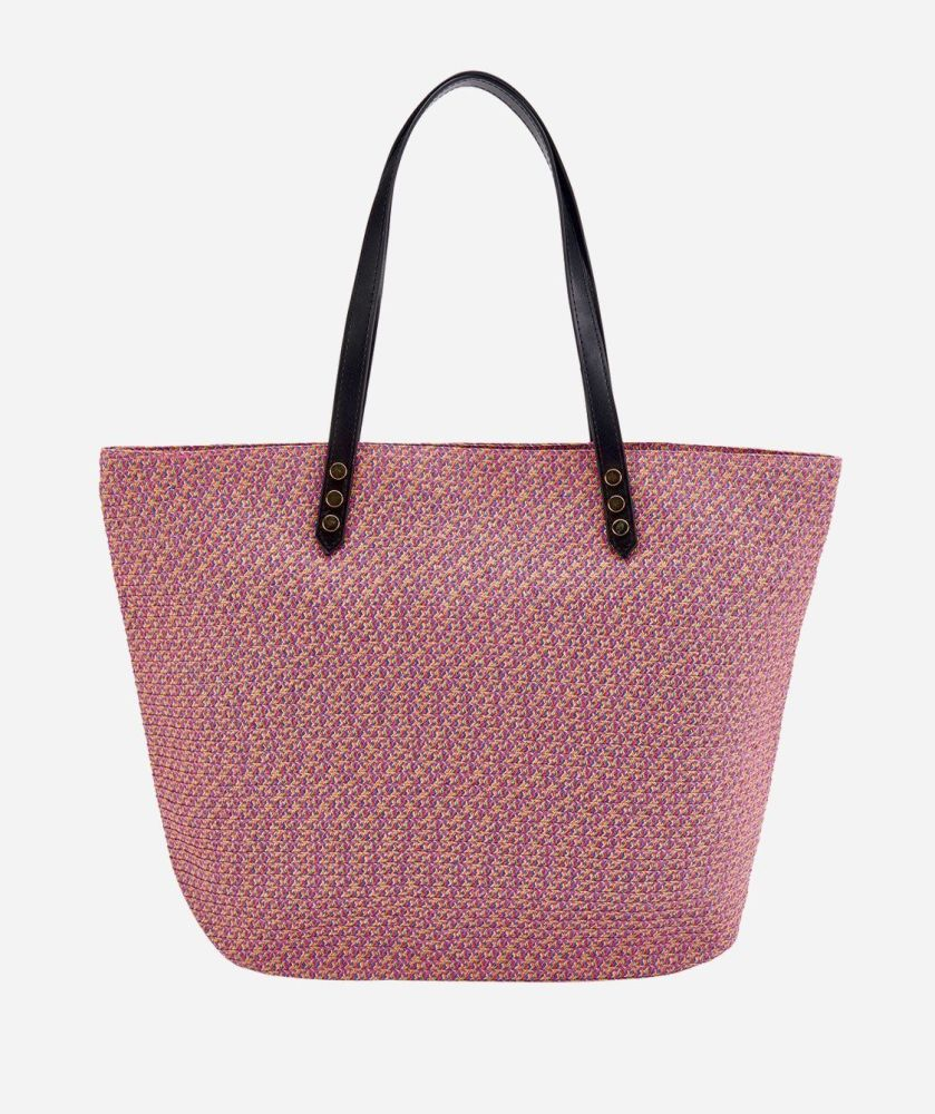 BSB1557-WOMENS PAPERBRAID TOTE BAG  -  WOMENS O/S