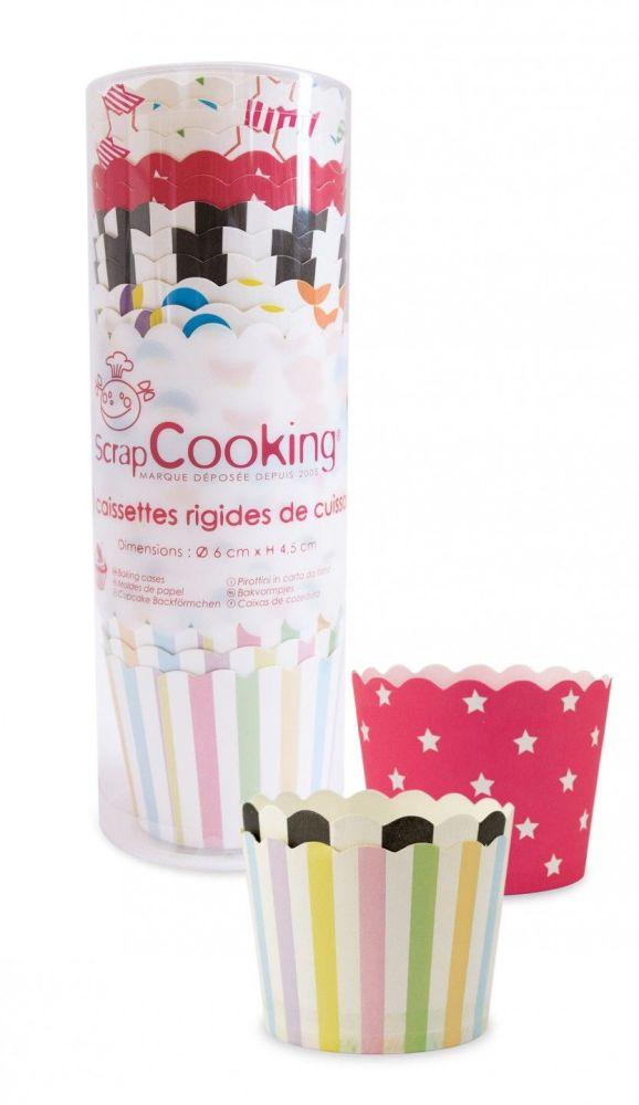 Scrap Cooking: 25 baking paper cases assorted paterns. MOQ 10 Units @ £3.06 per unit 5091