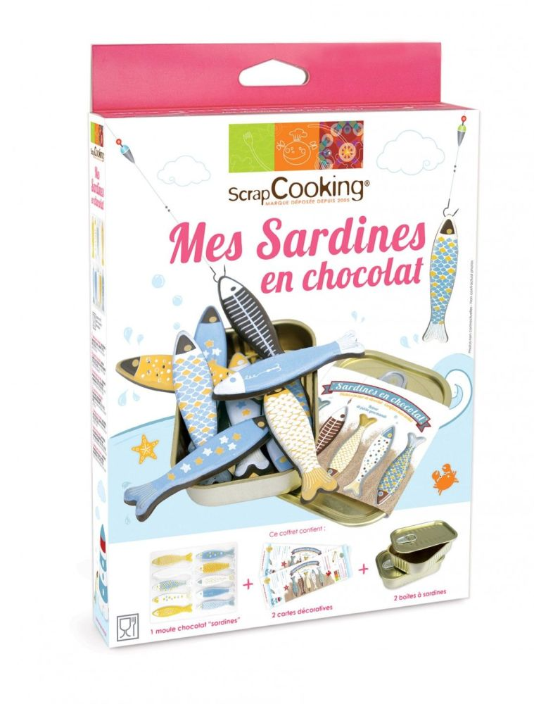 "Scrap Cooking: Kit ""My chocolate sardines"". MOQ 6 Units @ £7.37 per unit 3967"