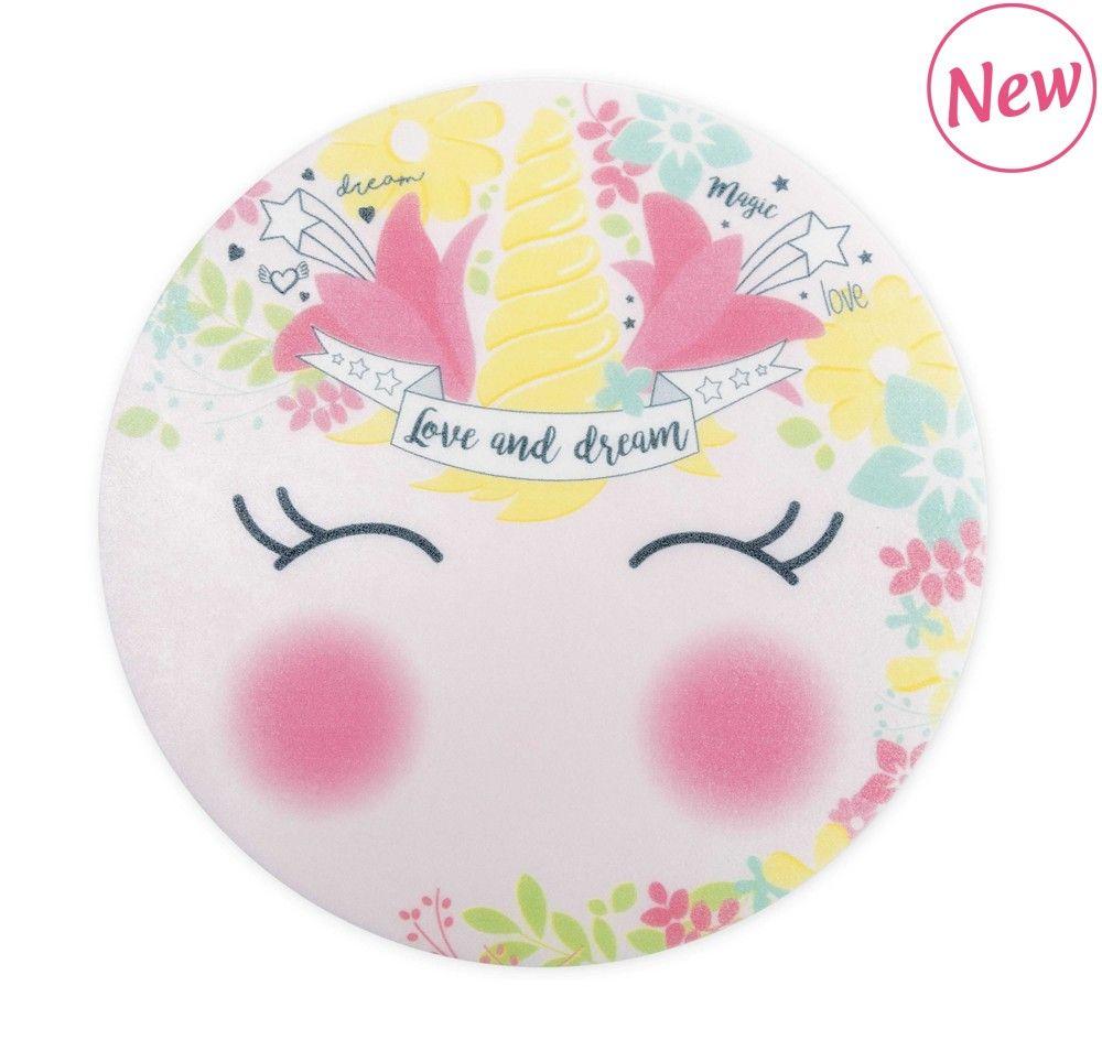 """Scrap Cooking: 1 rice paper cake topper """"Unicorn""""  Ø 15 cm. MOQ 10 Units @ £2.31 per unit 0401"""