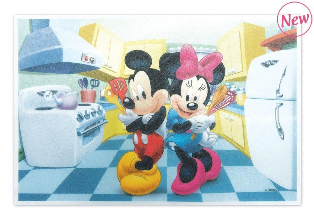 Scrap Cooking: Edible unleavened rectangle  « Mickey & Minnie ». MOQ 12 Units @ £3.21 per unit 1236MM