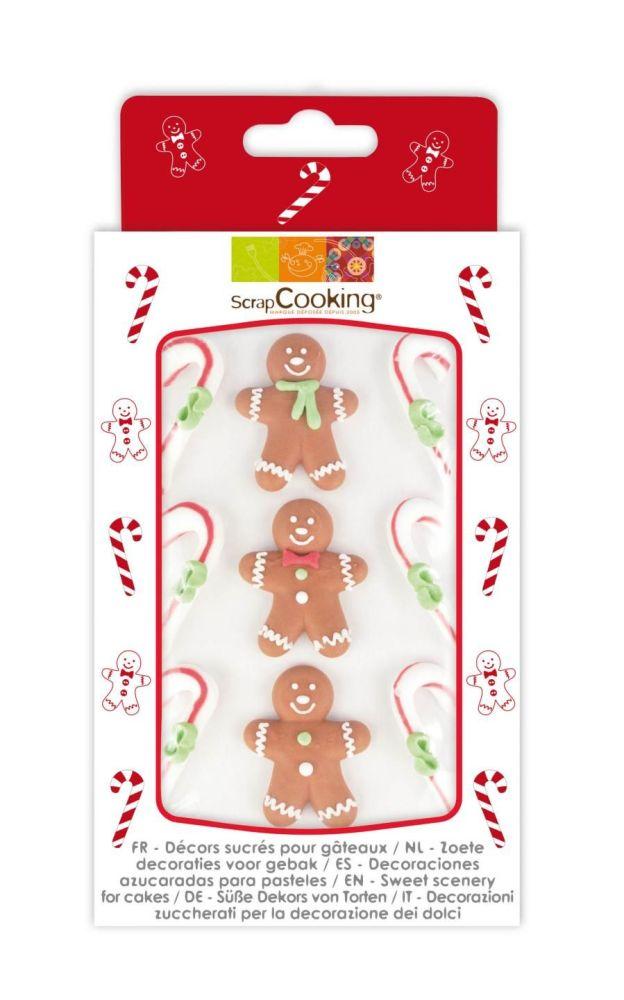 Scrap Cooking: 9 sweetened decors gingerbread theme. MOQ 15 Units @ £3.54 per unit 7046