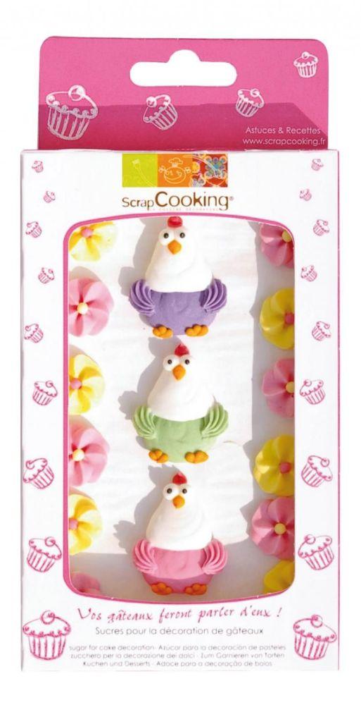 """Scrap Cooking: Sweetened decors """"hen"""". MOQ 15 Units @ £3.54 per unit 7041"""