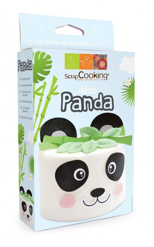 """Scrap Cooking: Wafer decorations set """"Panda"""". MOQ 6 Units @ £4.55 per unit 2275"""