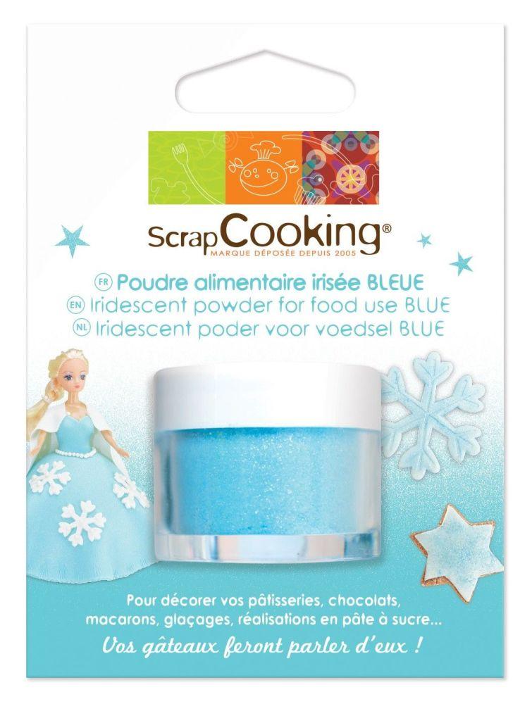 Scrap Cooking: Blue iridescent powder 5g. MOQ 6 Units @ £4.22 per unit 4023