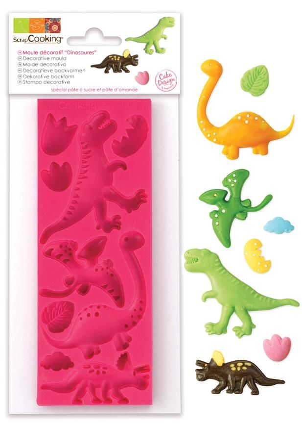 "Scrap Cooking: ScrapCooking® mould for sugar paste ""Dinosaurs"". MOQ 6 Units @ £7.41 per unit 3449"