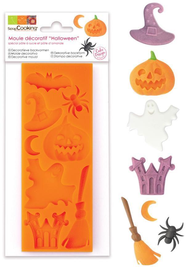"""Scrap Cooking: ScrapCooking® mould for sugar paste"""" Halloween """". MOQ 6 Units @ £7.41 per unit 3448"""