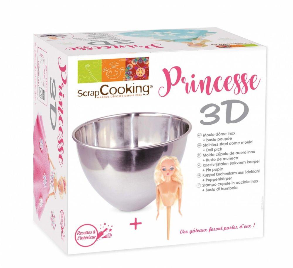 Scrap Cooking: Kit dome mould + princess . MOQ 2 Units @ £20.66 per unit 1904
