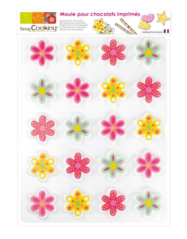 Scrap Cooking: 20 flowers blister mould. MOQ 5 Units @ £4.09 per unit 9488