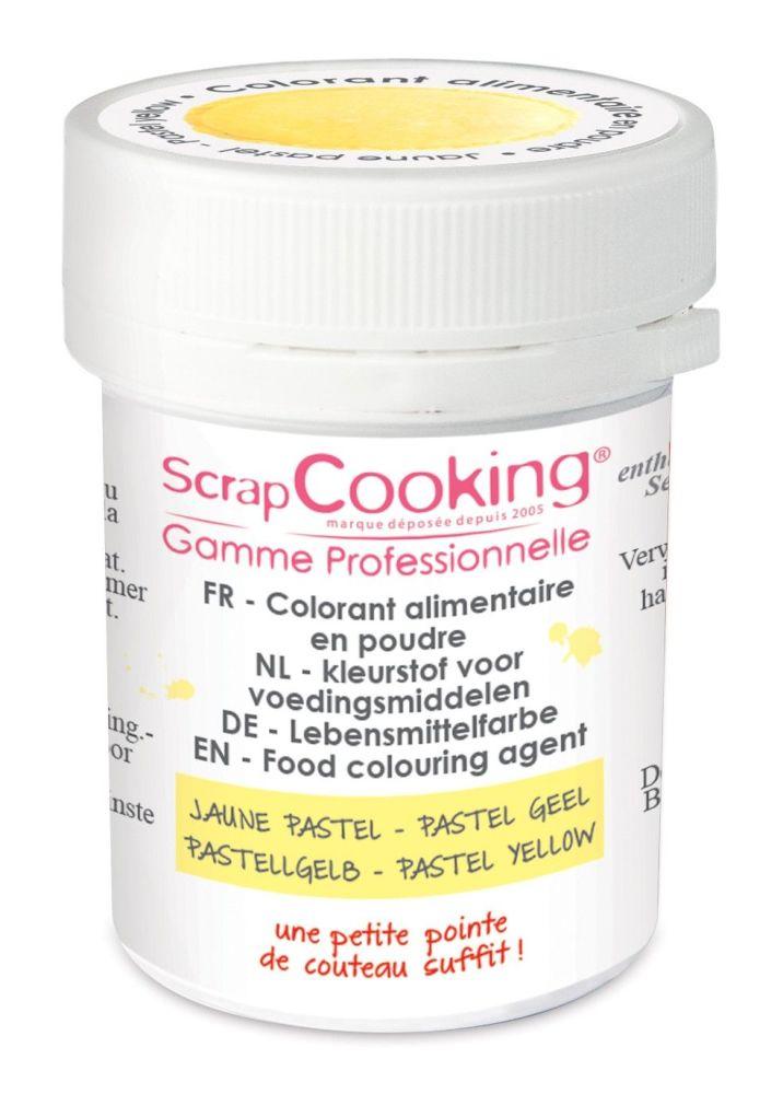 Scrap Cooking: Artificial colouring powder - pastel yellow 5g. MOQ 9 Units @ £2.99 per unit 4049