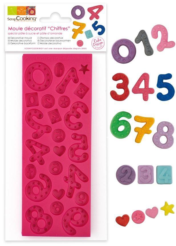 """Scrap Cooking: sugar paste moulds """"numbers"""". MOQ 6 Units @ £7.41 per unit 3444"""
