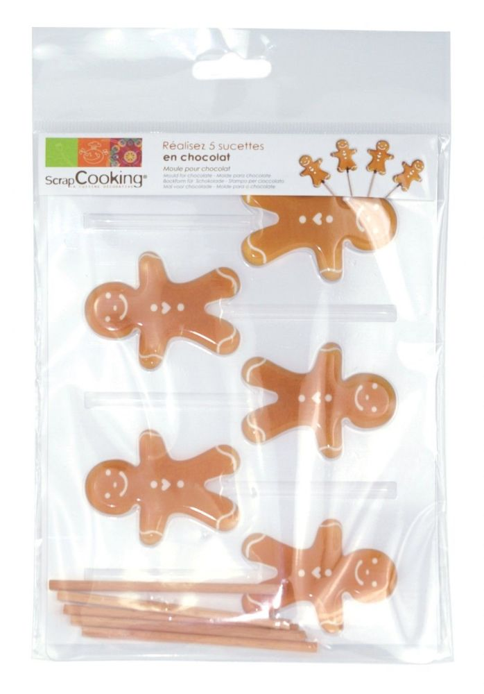 "Scrap Cooking: Mould lollipops  ""little gingerbread man"". MOQ 5 Units @ £3.48 per unit 9496"