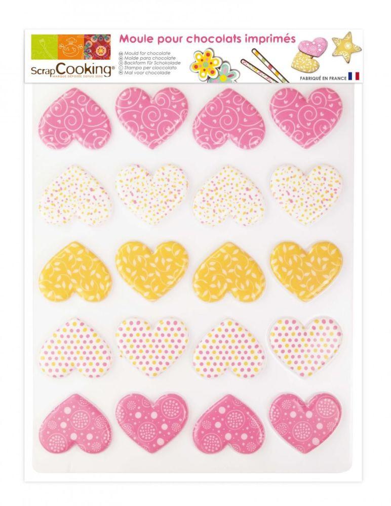 Scrap Cooking: Chocolate blister mould 20 hearts. MOQ 5 Units @ £4.09 per unit 9492